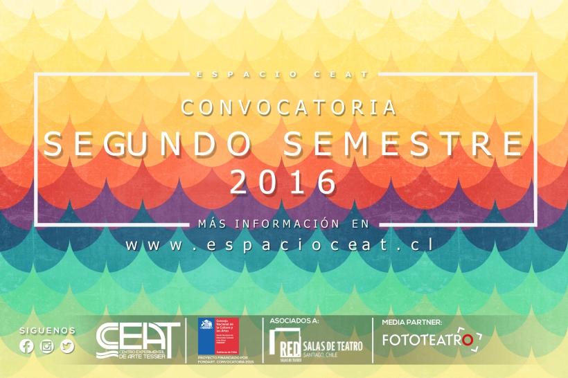 CONVOCATORIA SEGUNDO SEMESTRE  2016